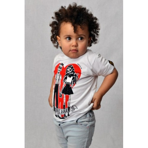 CAMISETA INFANTIL TRUE LOVE BLANCA
