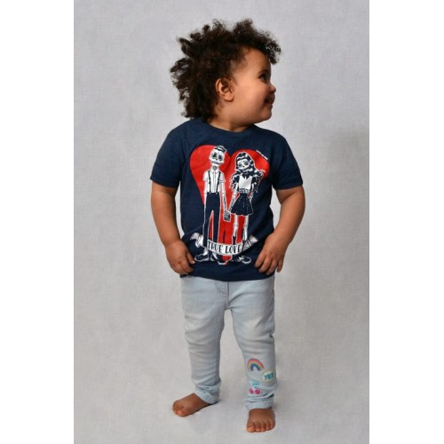 CAMISETA INFANTIL TRUE LOVE DENIM